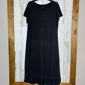 Eileen Fisher short sleeve minimalist cotton dress